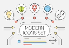 Icônes Web de style linéaire gratuit vecteur