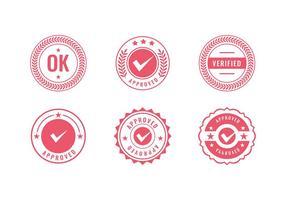 Cachet logo timbre rouge vecteur gratuit