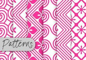 Ensemble de motifs Pink Rosete vecteur