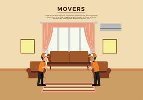Modèle d'illustration de déménagement vecteur gratuit