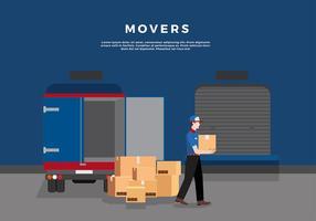 Mode de transport de déménagement vecteur gratuit