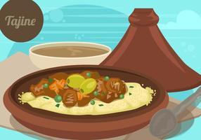 Tajine marocco food vecteur
