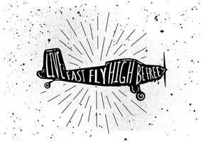 Fond d'avion gratuit dessiné à la main vecteur