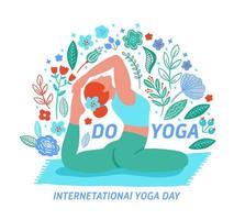 femme exerçant yoga