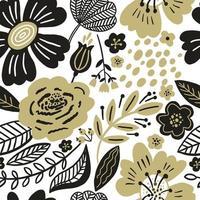 modèle sans couture floral automne vecteur