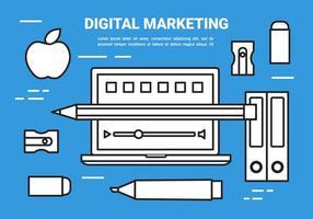 Vector de concept de marketing numérique plat gratuit