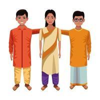 personnages de dessins animés indiens
