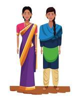 personnages de dessins animés de femmes indiennes