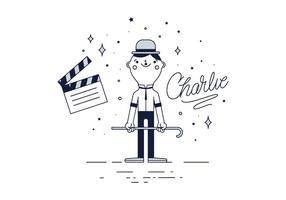 Vecteur gratuit Charlie Chaplin