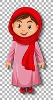 beau personnage de dessin animé de dame arabe