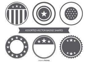 Collection de badge vectoriel en blanc