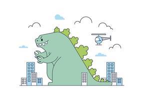 Vecteur Godzilla gratuit