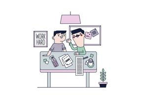 Vector de planification de travail gratuit