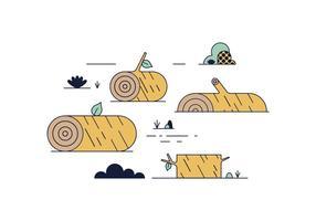 Vecteur log libre en bois