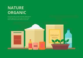 Fertilisant organique, illustration plate biodégradable vecteur