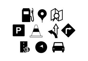 Vecteur de silhouette de trafic routier gratuit