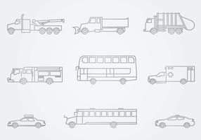 Icône des véhicules de service public vecteur