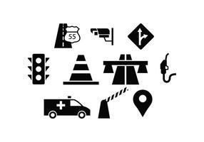 Vecteur d'icône de trafic libre