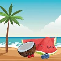 composition de fruits tropicaux exotiques
