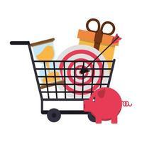 achats, ventes et composition marketing vecteur