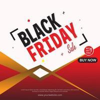 affiche de vente vendredi noir vecteur