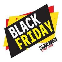 affiche de vente géométrique du vendredi noir vecteur