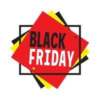 affiche de vente vendredi noir avec des carrés en couches vecteur