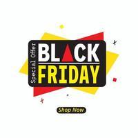 offre spéciale affiche de vente du vendredi noir vecteur