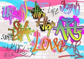 Vecteur graffiti mur