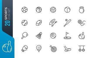 jeu d'icônes de sport minimal vecteur