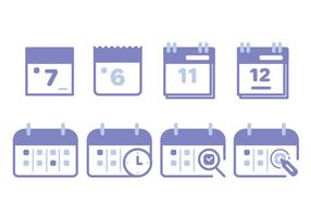 Ensemble d'icône du calendrier