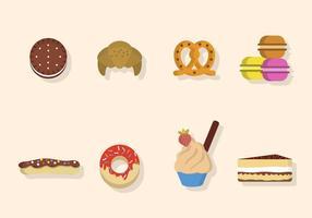 Vecteurs de desserts plats vecteur