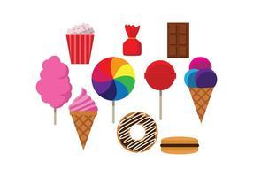 Vecteur coloré gratuit Sweet Food