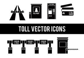 Icônes vectorielles de péage