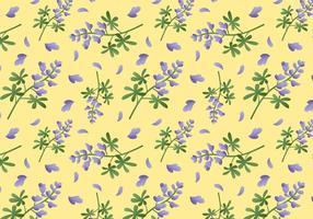 Bluebonnet Flower Pattern vecteur
