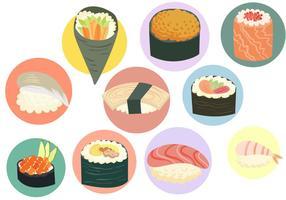 Vecteurs de sushi gratuits vecteur