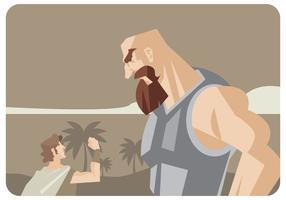 David et Goliath Vector