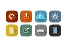Collection de vecteur d'icône de mise à jour gratuite