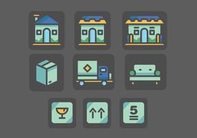 Movers and Homes Vecteurs colorés