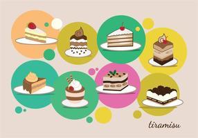 Collection de desserts vecteur