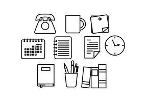 Vecteur d'icône de ligne de bureau gratuit