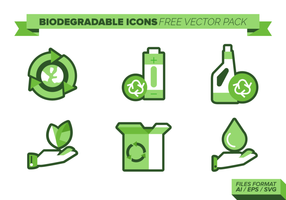 Icônes biodégradables Free Vector Pack
