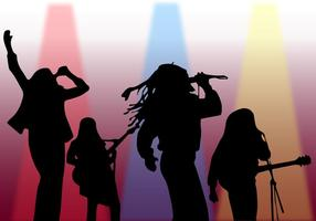 Silhouette Singer On Stage Vector