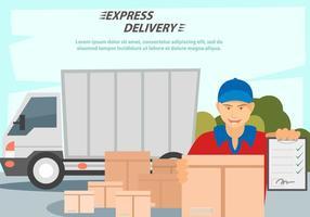 Services de livraison vecteur