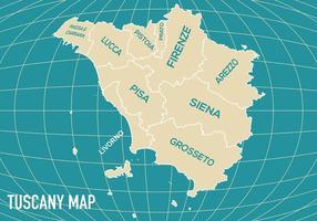 Vector de carte de la Toscane