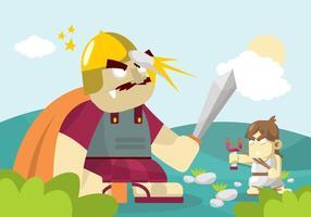 David et Goliath Illustration