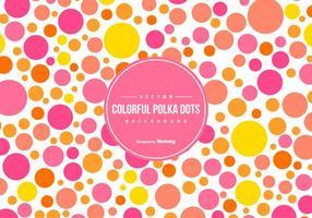 Cute Colorful Polka Dot Backgound vecteur