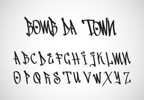 Graffiti tag letter free vector