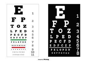 Graphiques de test des yeux vectoriels vecteur