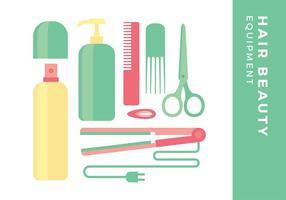 Équipement de beauté pour cheveux vecteur gratuit